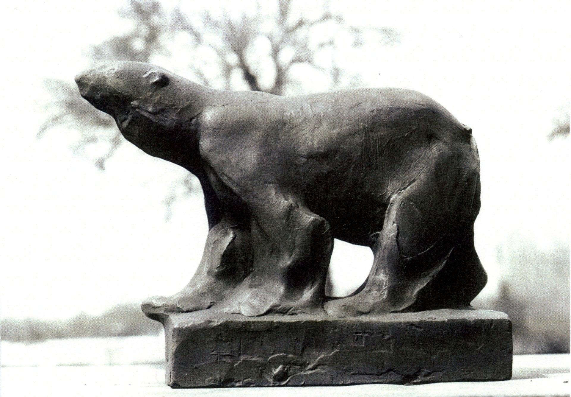 Eisbär.  Bronze.  1935.  Höhe 20 cm.